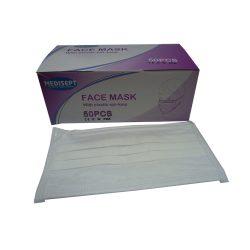 mondmaskers 3-laags wit met elastieken